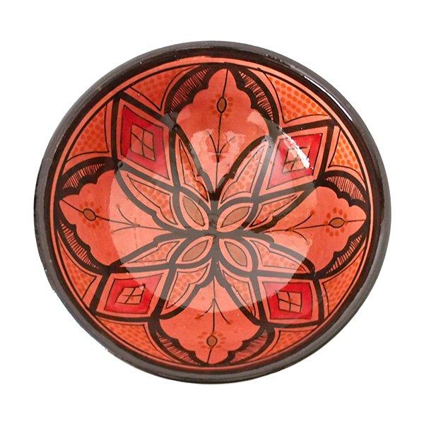 モロッコ サフィ陶器 ボウル(レッド 18cm)【画像3】