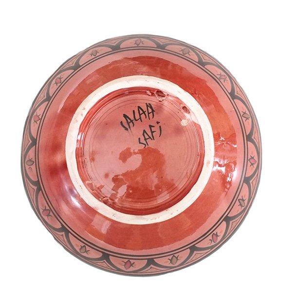 モロッコ サフィ陶器 ボウル(レッド)