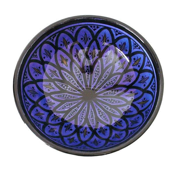 モロッコ サフィ陶器 ボウル(ブルー 18cm)【画像3】