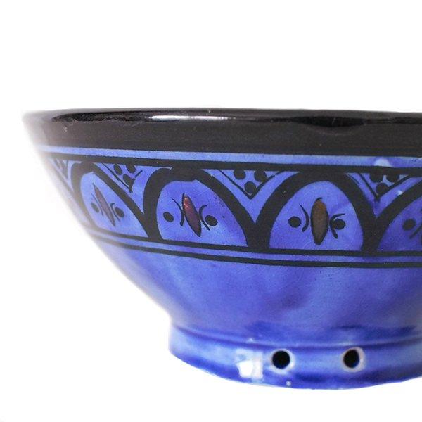 モロッコ サフィ陶器 ボウル(ブルー 18cm)【画像4】