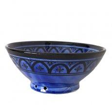 モロッコ サフィ陶器 ボウル(ブルー 18cm)