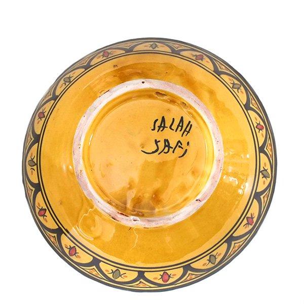 モロッコ サフィ陶器 ボウル(イエロー 18cm)【画像2】
