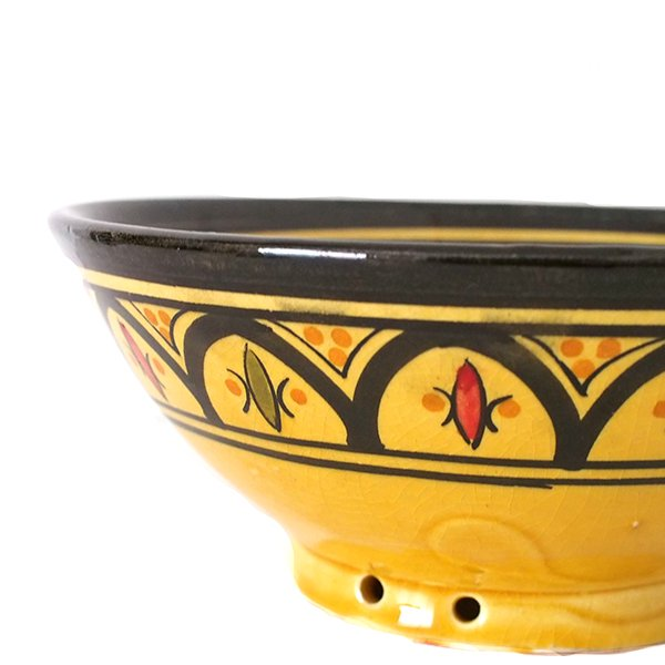 モロッコ サフィ陶器 ボウル(イエロー 18cm)【画像4】