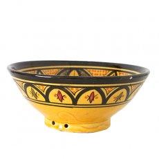 モロッコ サフィ陶器 ボウル(イエロー 18cm)
