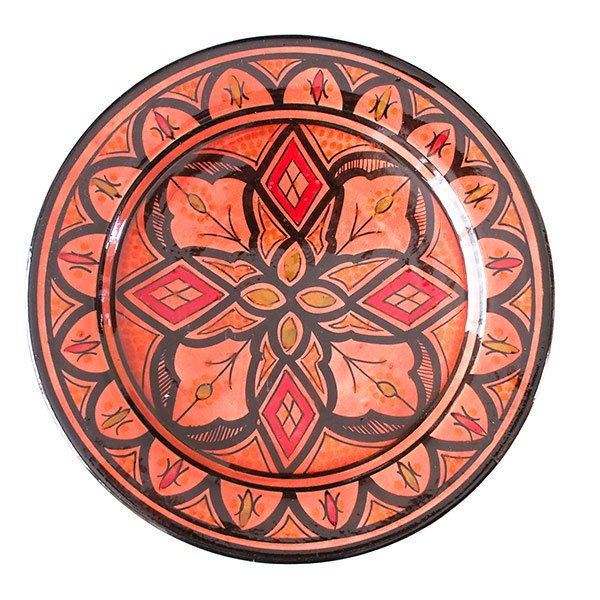 モロッコ サフィ陶器のお皿(レッド)