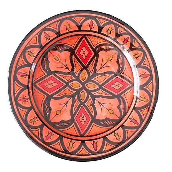 モロッコ サフィ陶器のお皿(レッド 20cm)