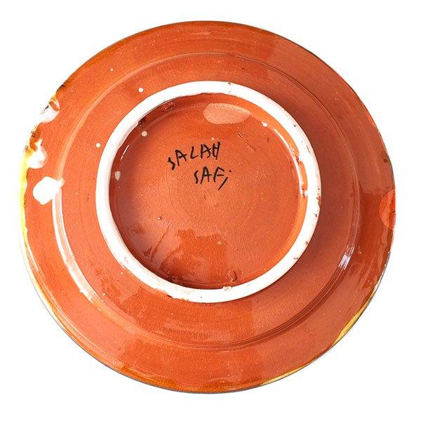 モロッコ サフィ陶器のお皿(レッド 20cm)【画像2】