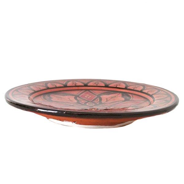 モロッコ サフィ陶器のお皿(レッド 20cm)【画像3】