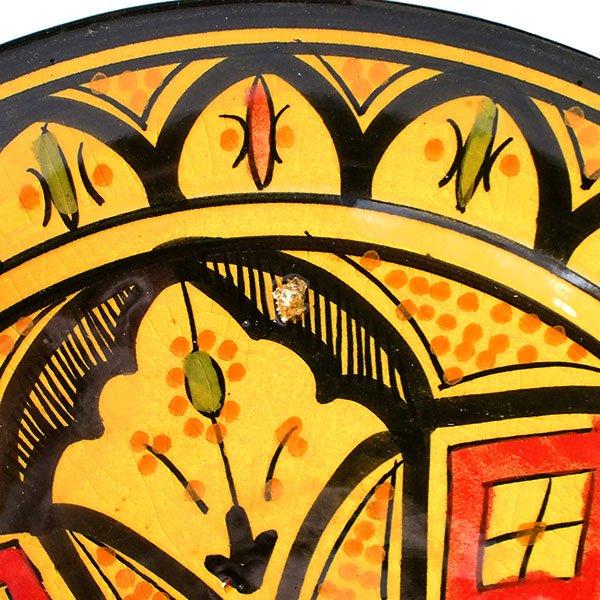 モロッコ サフィ陶器のお皿(イエロー 20cm)【画像3】