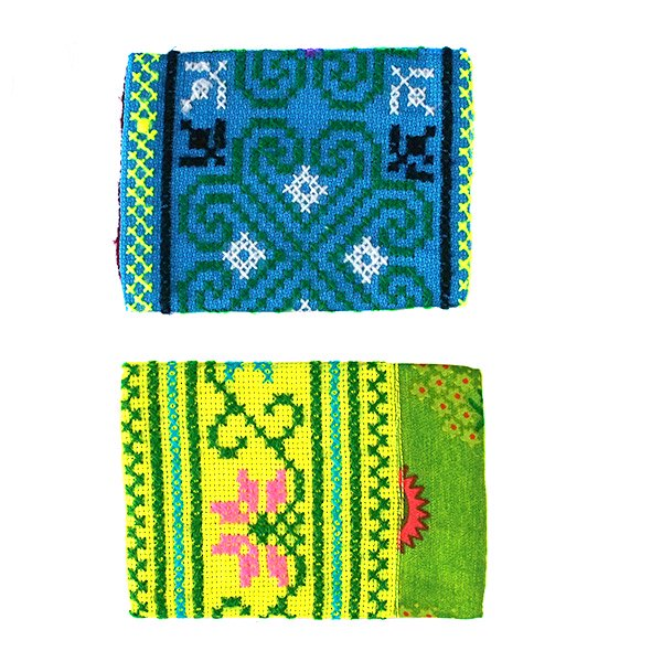 タイ モン族 刺繍 ポケットティッシュケース(4色)【画像3】