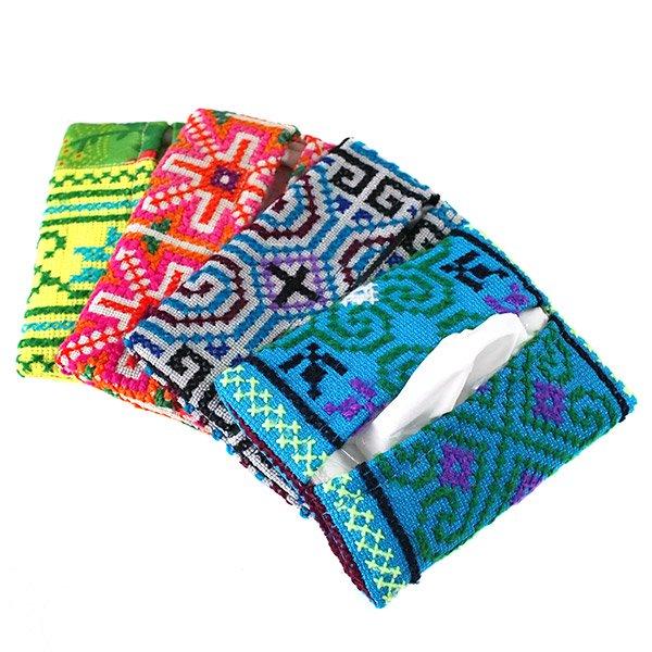 タイ モン族 刺繍 ポケットティッシュケース(4色)【画像7】