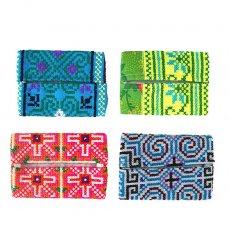 民族の刺繍 タイ モン族 刺繍 ポケットティッシュケース(4色)