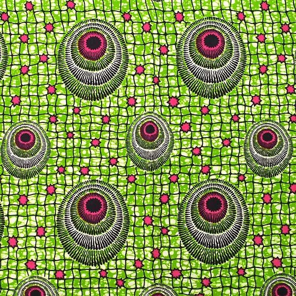 アフリカン プリント布 パーニュ 115×90 カットオフ(模様4)