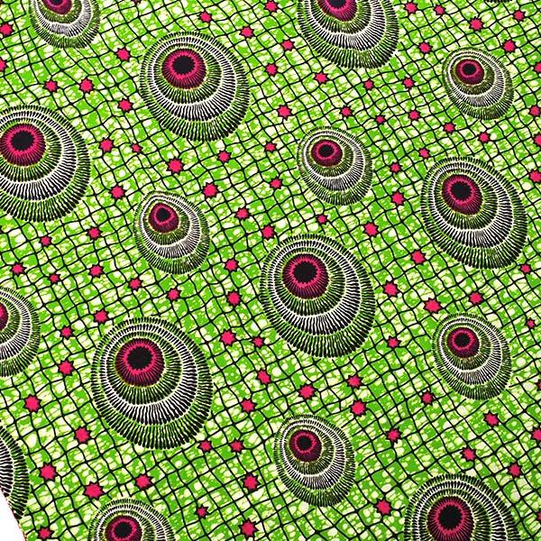 アフリカン プリント布 パーニュ 115×90 カットオフ(模様4)【画像3】