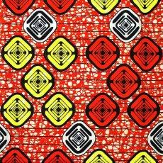 アフリカ 布 パーニュ アフリカの布 パーニュ(四角模様)