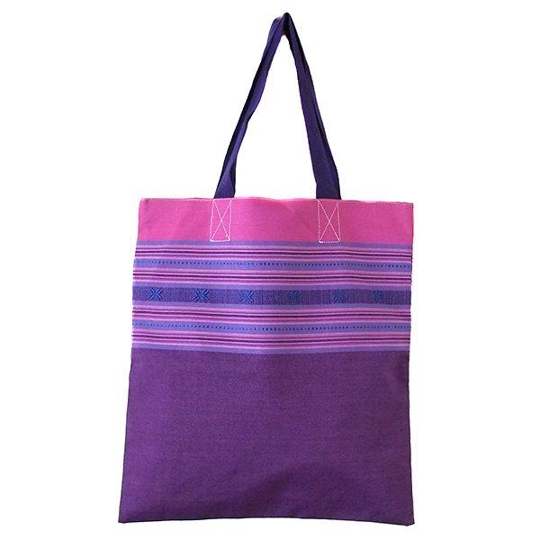 ベトナム ターイ族 手織りのバッグ