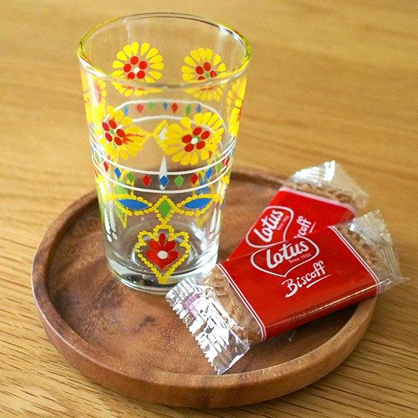 モロッコ プリントグラス(お花)