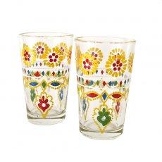 モロッコ 花 プリントグラス
