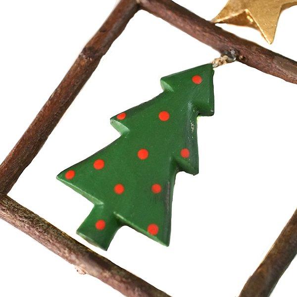 フィリピン  小枝のオーナメント(お家とクリスマスツリー)【画像2】