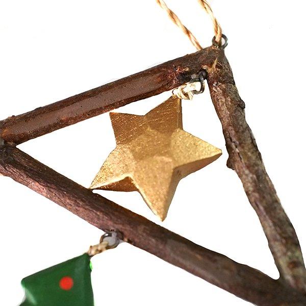 フィリピン  小枝のオーナメント(お家とクリスマスツリー)【画像3】