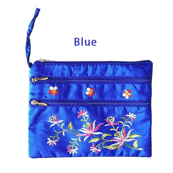 ベトナム 刺繍 シルクポーチ(蓮5色)【画像2】