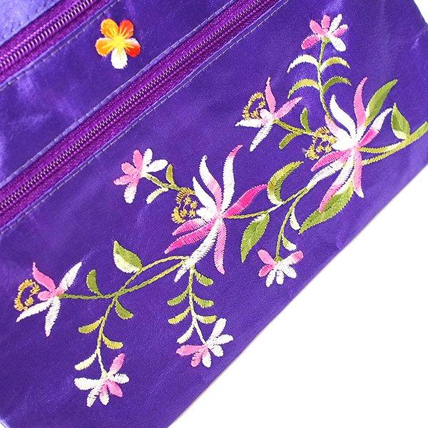 ベトナム 刺繍 シルクポーチ(蓮5色)【画像7】