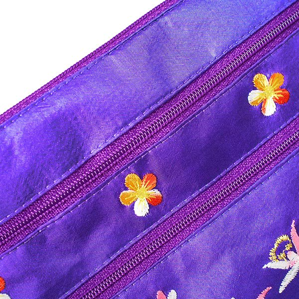 ベトナム 刺繍 シルクポーチ(蓮5色)【画像8】