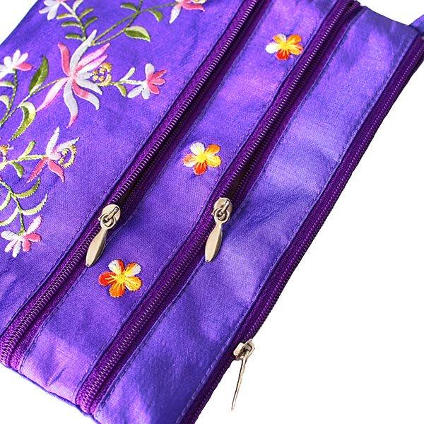 ベトナム 刺繍 シルクポーチ(蓮5色)【画像9】