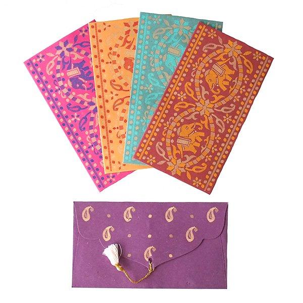 インド chimanlalsの封筒(ゾウ)