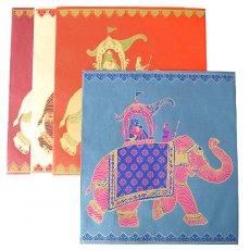 インド chimanlals(チマンラール)の大きめ ゾウ 封筒(29.5cm×27cm)