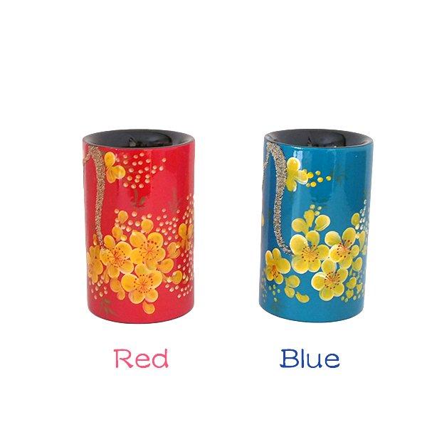 ベトナム 漆 梅の花 ペン立て(4色)【画像2】