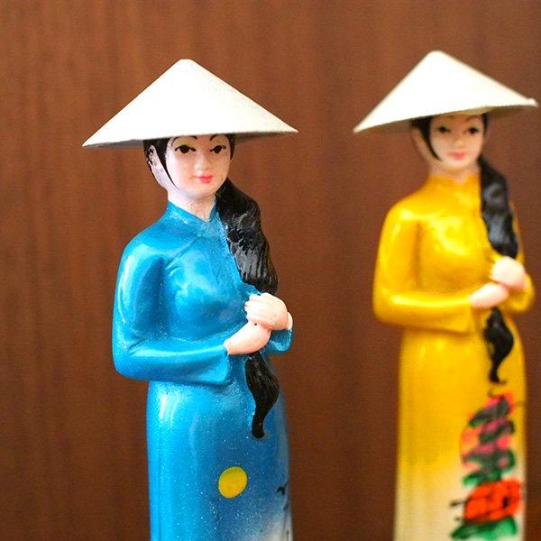 ベトナム アオザイ おねえさんの置物【画像4】