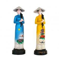 ベトナム 雑貨 ベトナム アオザイ おねえさんの置物