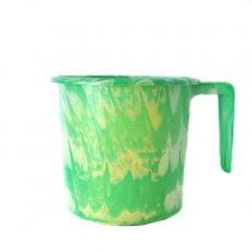 アフリカ プラスチック セネガル プラスチックコップ(1リットル グリーン)