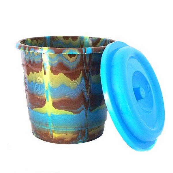セネガル プラスチックの蓋付きミニバケツ