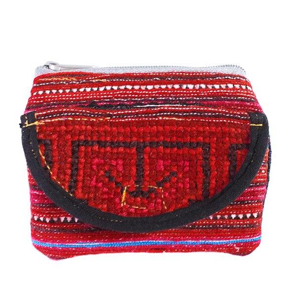 ベトナム 少数民族 モン族刺繍 ミニポーチ(マジックテープのポッケ付)【画像4】