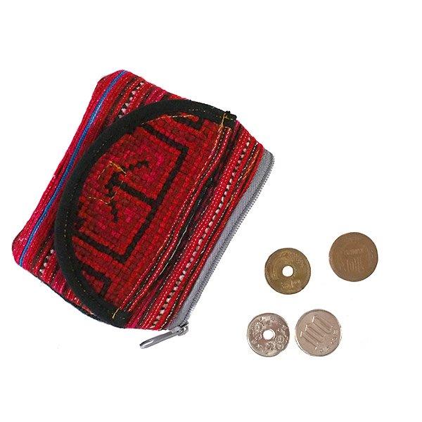 ベトナム 少数民族 モン族刺繍 ミニポーチ(マジックテープのポッケ付)【画像6】