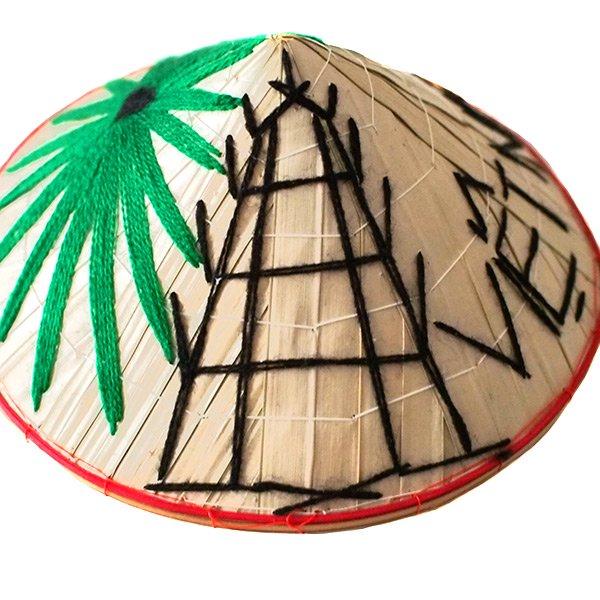 ベトナム カラフル刺繍のミニノンラー(三角笠)【画像5】