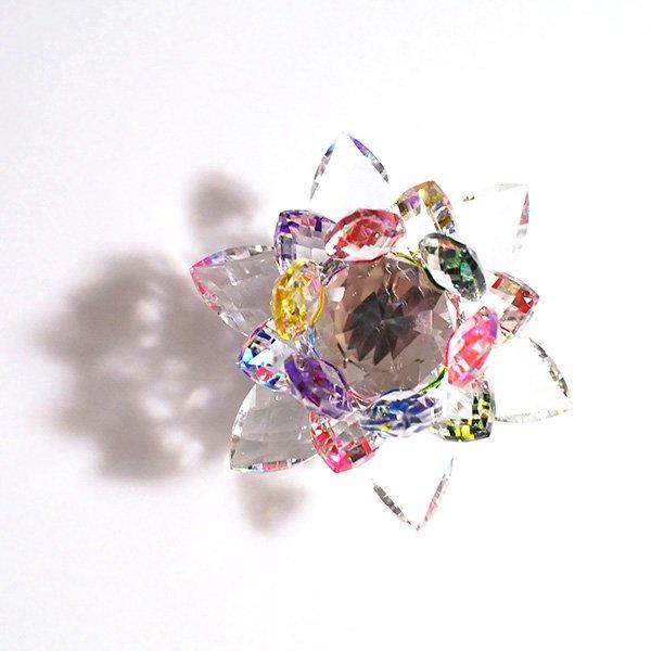 クリスタルガラス 蓮の花