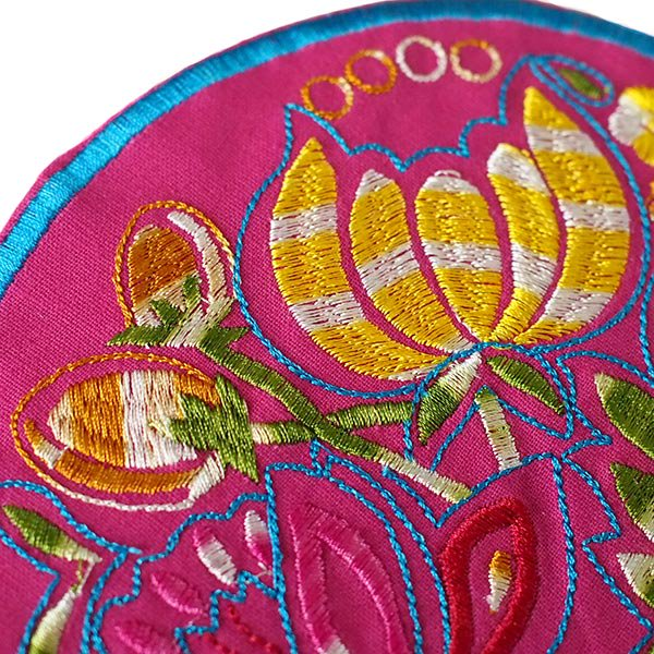 ベトナム 刺繍コースター