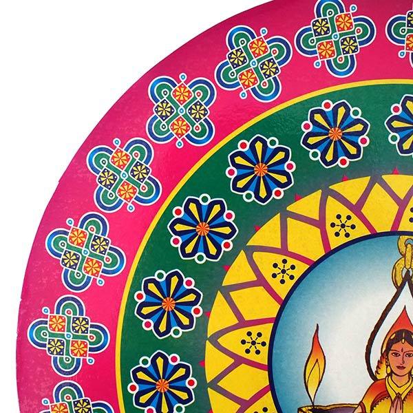 インド  ステッカー(ランゴリ 丸型)