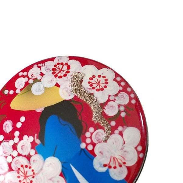 ベトナム 漆 アオザイ 小物入れ(丸型 9色)【画像5】