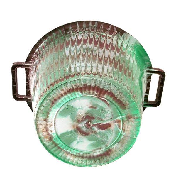 セネガル プラスチック持ち手付きの桶(ブラウンA  12リットル)【画像4】
