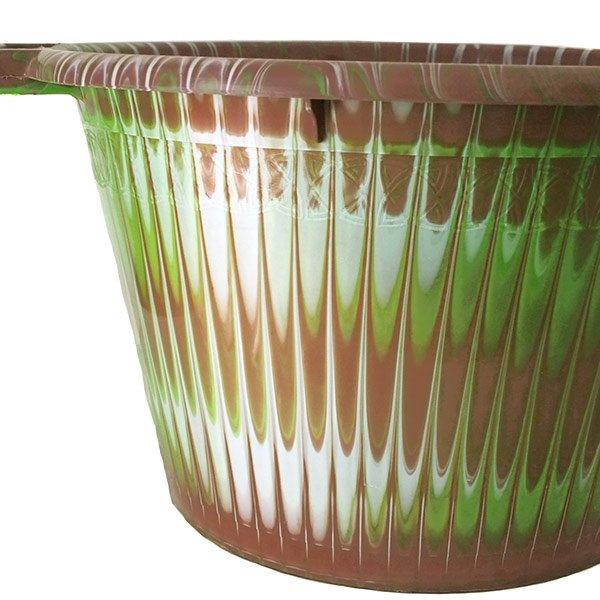 セネガル プラスチック持ち手付きの桶(ブラウンB 12リットル)【画像2】