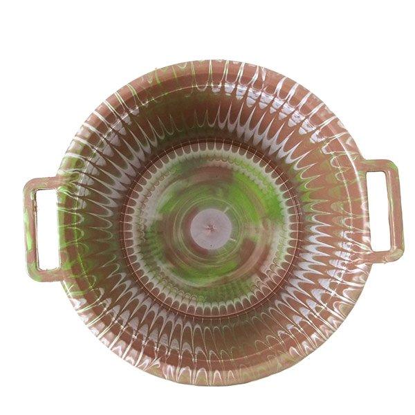 セネガル プラスチック持ち手付きの桶(ブラウンB 12リットル)【画像3】
