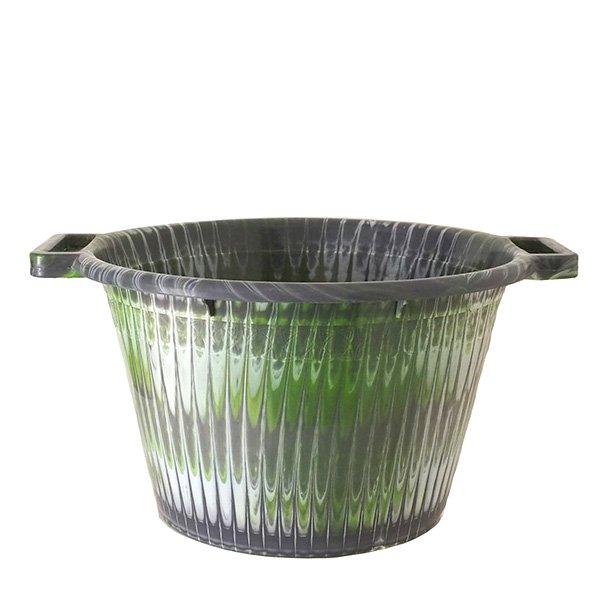 セネガル プラスチック持ち手付きの桶(グレイ 12リットル)