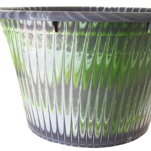 セネガル プラスチック持ち手付きの桶(グレイ 12リットル)【画像2】