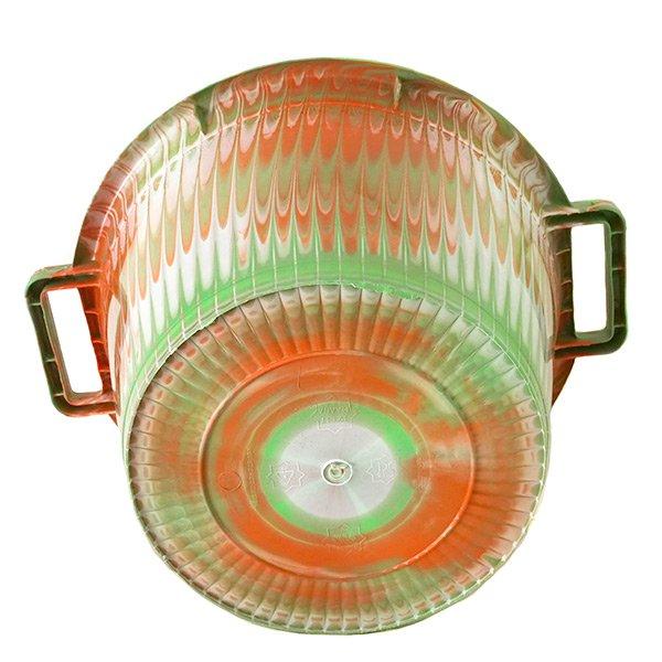 セネガル プラスチック持ち手付きの桶(キミドリ 12リットル)【画像4】