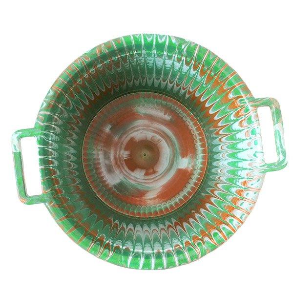 セネガル プラスチック持ち手付きの桶(グリーン 12リットル)【画像3】