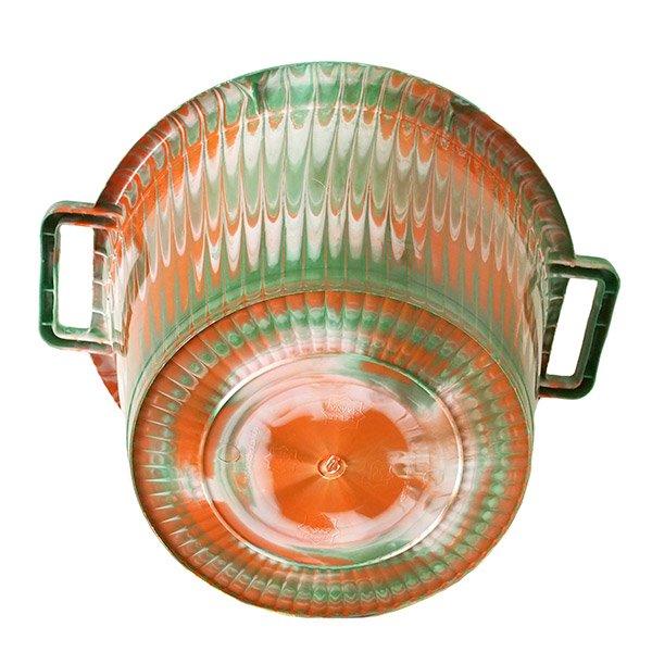 セネガル プラスチック持ち手付きの桶(グリーン 12リットル)【画像4】